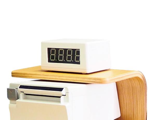 ボタン式受付順番発券機オプション:番号表示器