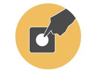 順番管理・呼出アプリ LineManager@Call ポイント - ボタン式発券機