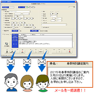 AcademicManager 入退室メール自動送信