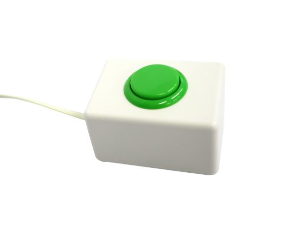 ボタン式受付順番発券機オプション:2窓口対応用発券ボタン(緑)